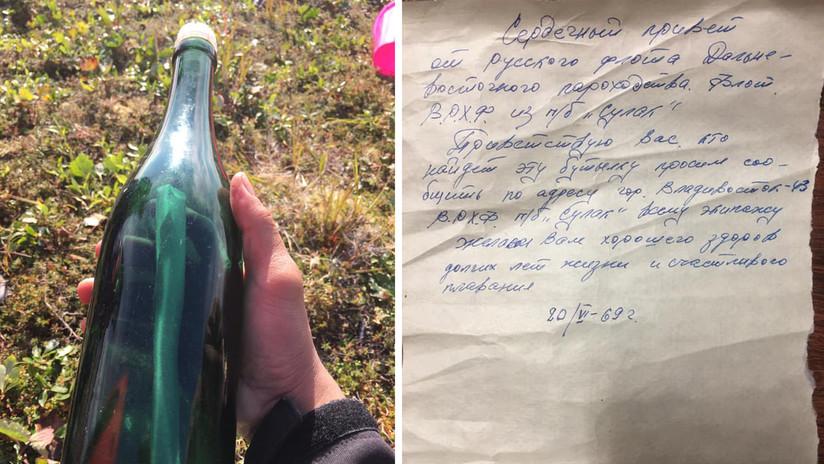 Saludos desde la URSS': Hallan en Alaska un mensaje en una botella escrito en 1969