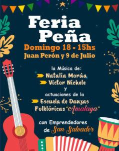 Feria de Emprendedores «La Calesita» se viste de Feria-Peña