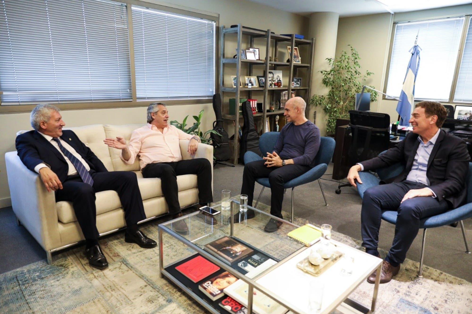 Horacio Rodríguez Larreta y Diego Santilli se reunieron con Alberto Fernández