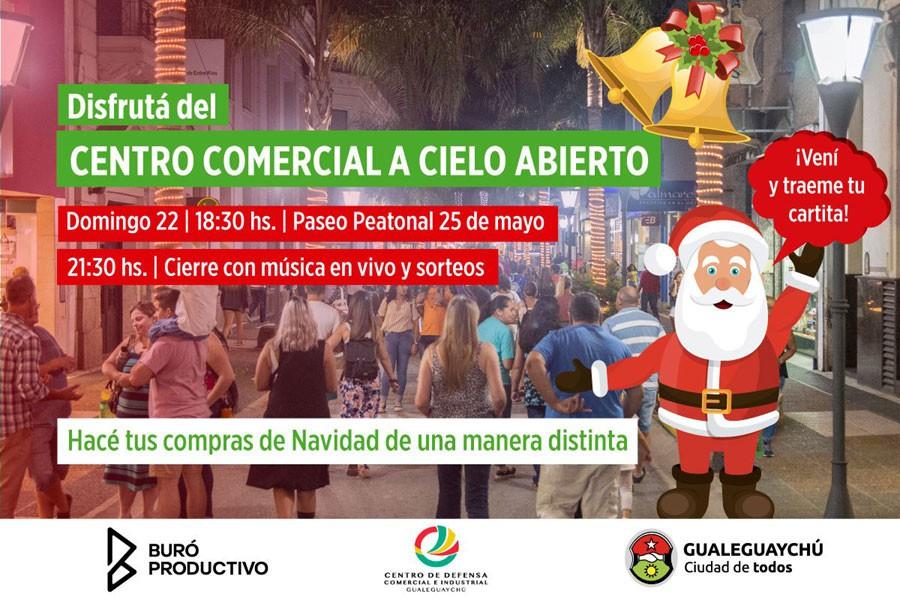 El 22 de diciembre se realizará una nueva jornada de Centro Comercial a Cielo Abierto