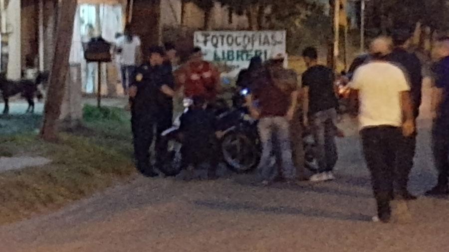 Lesionado grave en choque de motos