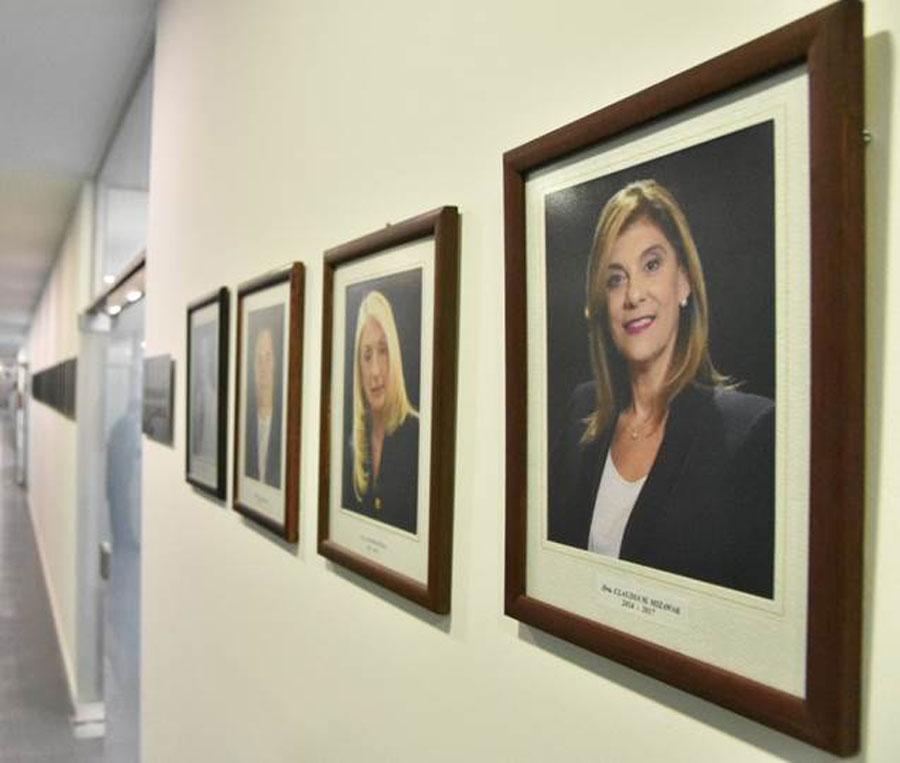 Mizawak integra la galería de ex presidentes y presidentas del Superior Tribunal de Justicia.