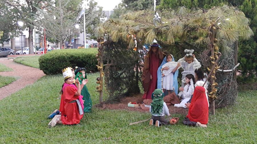 Pesebre Viviente en la Plaza Constitución