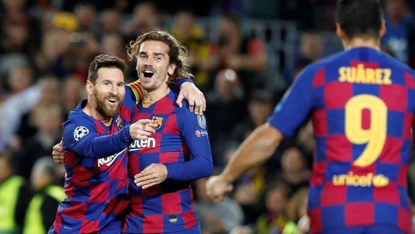 Messi, Suárez y Griezmann, un tridente con números explosivos en Barcelona