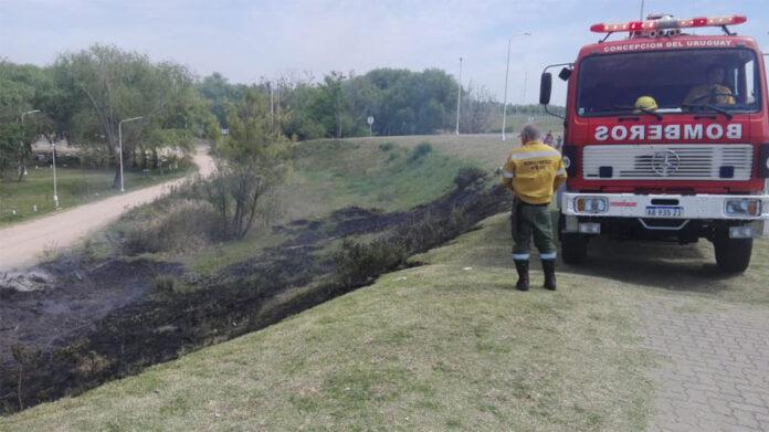 Incendios de pastos demandaron el trabajo de bomberos