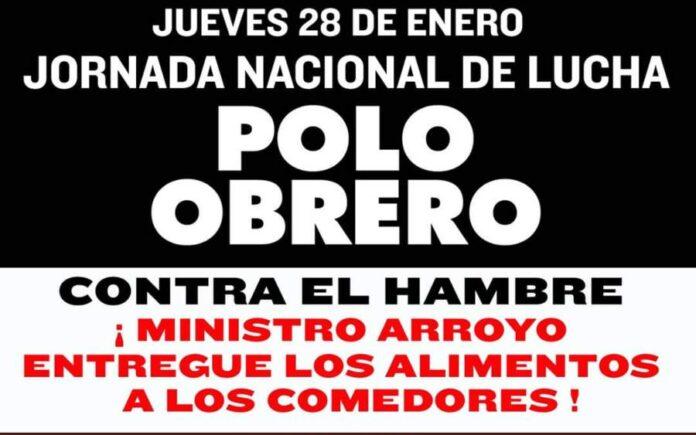 Jornada nacional de lucha del Polo Obrero y otras organizaciones