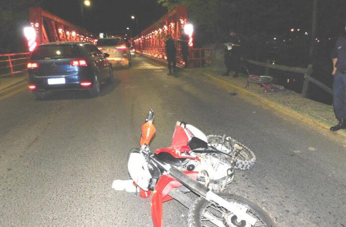 Gualeguaychú: Accidente en la cabecera el puente Mendez Casariego