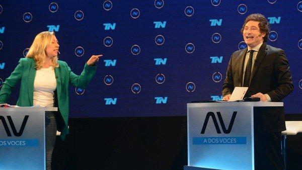 debate-en-a-dos-voces:-el-incontrolable-javier-milei-y-sus-chicanas-permanentes-con-myriam-bregman